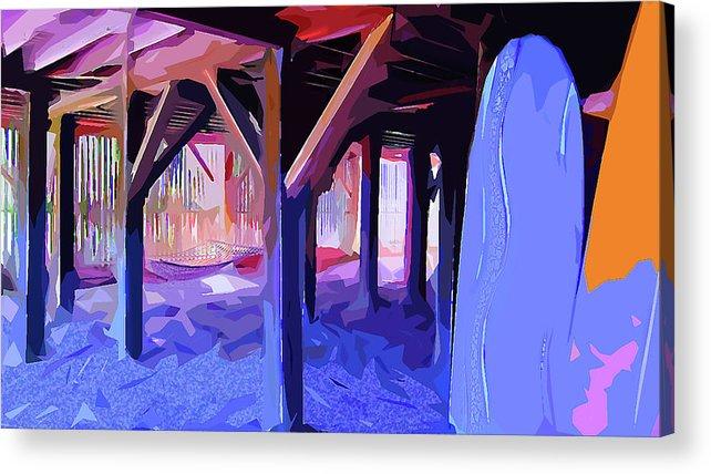 Beach Acrylic Print featuring the digital art Good Vibrations by Gina Harrison