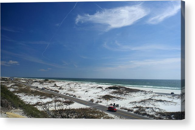Gulf Acrylic Print featuring the photograph Gulf Of Mexico At Pensacola Beach by George Taylor