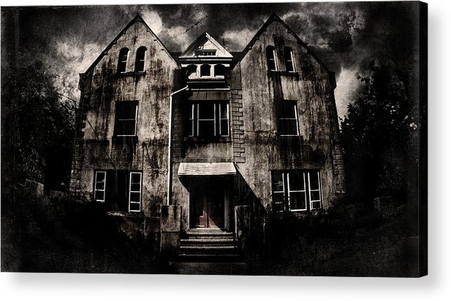 Haunted House Acrylic Print featuring the digital art Home by Torgeir Ensrud