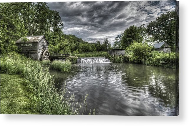 Mill Acrylic Print featuring the photograph Hyde's Mill by Brad Bellisle