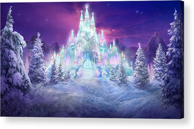 Philip Straub Acrylic Print featuring the mixed media Ice Castle by Philip Straub