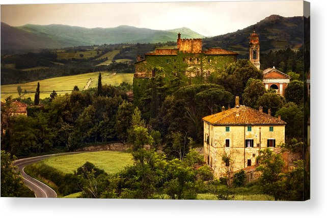 Italy Acrylic Print featuring the photograph Italian Castle And Landscape by Marilyn Hunt