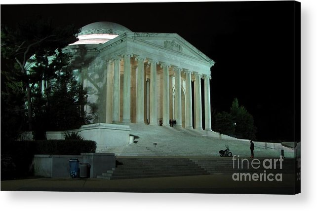 Schuminweb Acrylic Print featuring the photograph Jefferson Memorial At Night by Ben Schumin