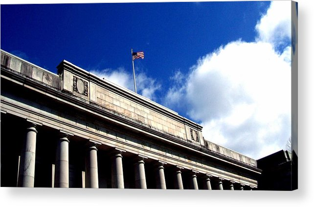 Temple Of Justice Acrylic Print featuring the photograph Justice by Kevin D Davis