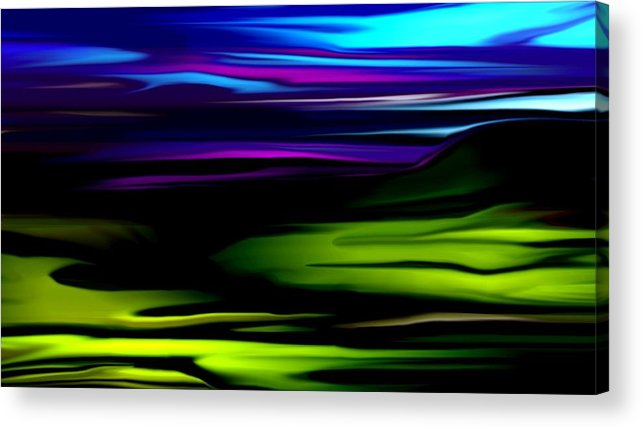 Abstract Expressionism Acrylic Print featuring the digital art Landscape 8-05-09 by David Lane