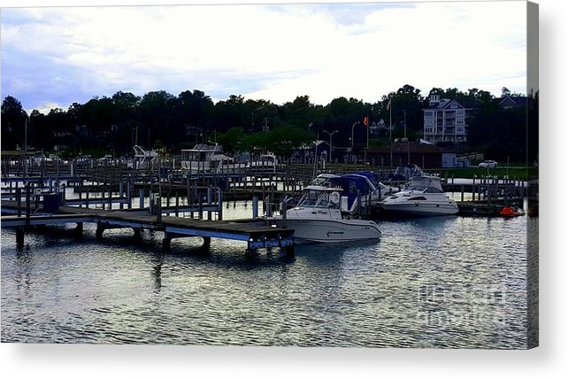 Harbor Acrylic Print featuring the photograph Lexington Harbor by Adam Schneider