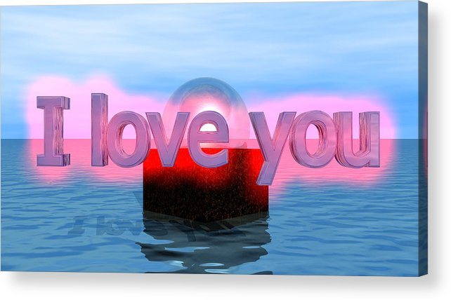 Acrylic Print featuring the digital art Love by Andreas R Wesener