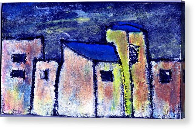 Buidings Acrylic Print featuring the painting Memories by Wayne Potrafka