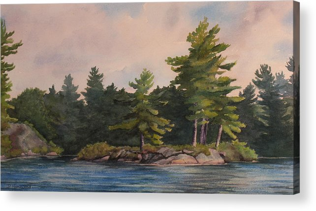 Island Acrylic Print featuring the painting Morning Light by Debbie Homewood