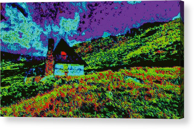 Acrylic Print featuring the digital art Mountain House D5b by Modified Image