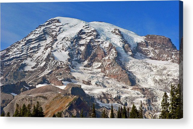 Mountains Acrylic Print featuring the photograph Mt. Rainier In The Fall by Larry Keahey