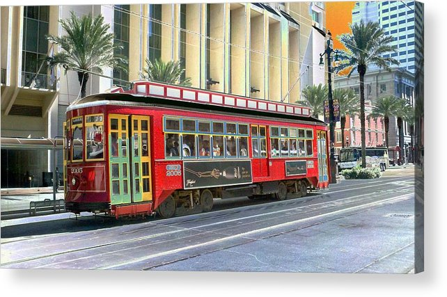New Orleans Acrylic Print featuring the photograph New Orleans Street Car by Kevin Flynn