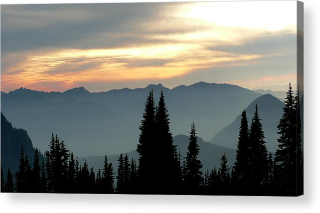 Mountains Acrylic Print featuring the photograph Peaks And Valley by Larry Keahey