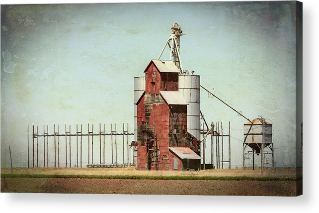 Grain Elevator Acrylic Print featuring the photograph Plains Sentinel by Stephen Stookey