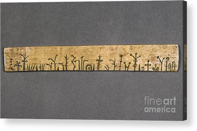 American Acrylic Print featuring the photograph Potawatomi Medicine Stick by Granger