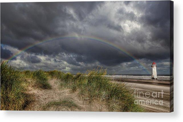 Rainbow Acrylic Print featuring the photograph Rainbow Lighthouse by Adrian Evans