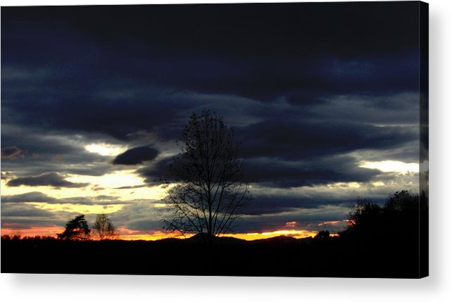 Landscape Acrylic Print featuring the painting Rising Sun by Penny Everhart