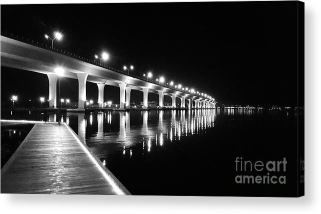 Bridge Acrylic Print featuring the photograph Roosevelt Bridge, Stuart Fl by Barbara Knowles