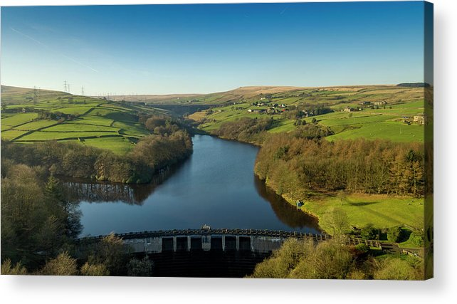 Ryburn Acrylic Print featuring the photograph Ryburn Reservoir by Philip Fearnley