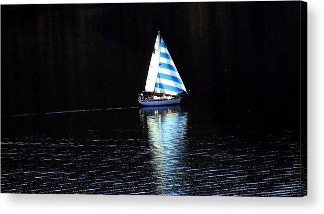 Sailboat Acrylic Print featuring the photograph Sailing by Tiffany Vest