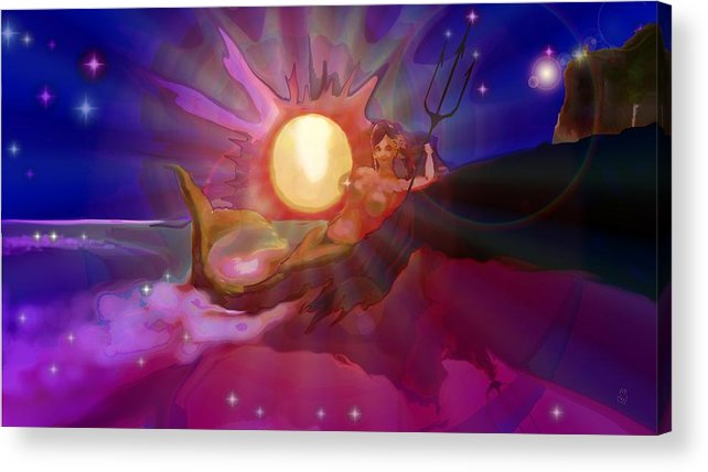 Sera Acrylic Print featuring the digital art Sera Maroon by Mark Kleinschnitz