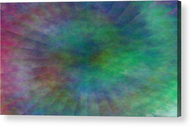 Acrylic Print featuring the digital art Structures by Andreas R Wesener