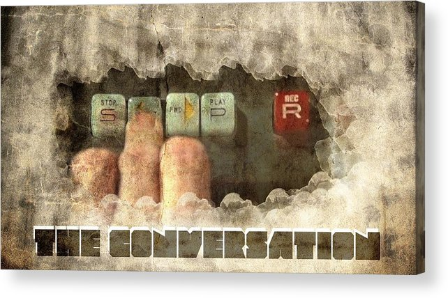 Conversation Acrylic Print featuring the digital art The Conversation by Andrea Barbieri