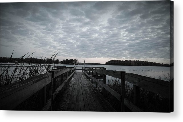 Water Acrylic Print featuring the photograph The Dock by Tracy Welter
