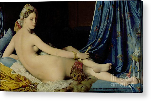 The Acrylic Print featuring the painting The Grande Odalisque by Ingres