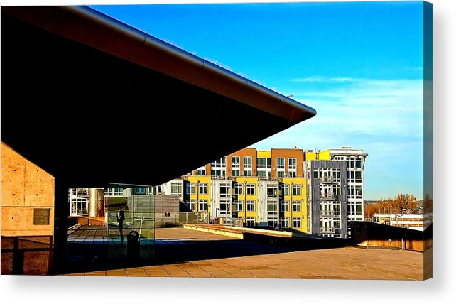 Abstract Acrylic Print featuring the photograph The Wedge by David Coleman