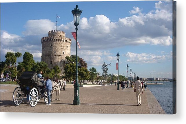 Thessaloniki Acrylic Print featuring the photograph Thessaloniki City by Aleks Findikian