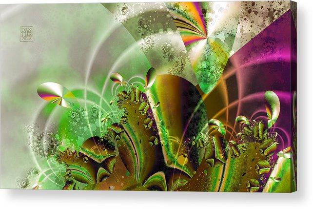 Acrylic Print featuring the digital art Treasure Cove by Dan Turner