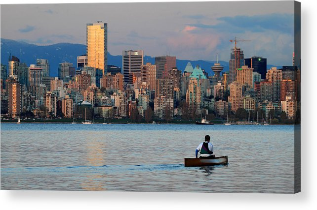 Vancouver Acrylic Print featuring the photograph Vancouver Canoe by Pierre Leclerc Photography