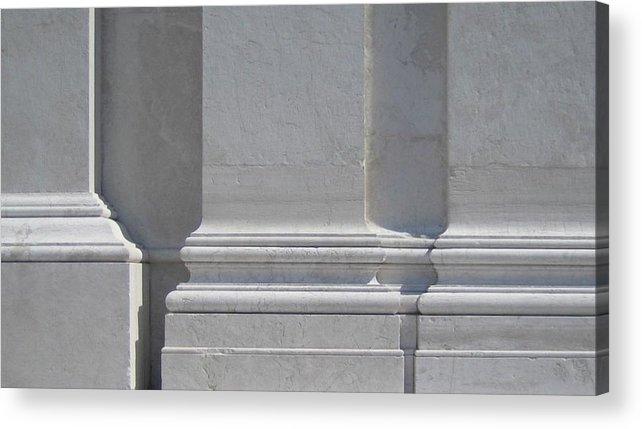 San Giorgio Maggiore Acrylic Print featuring the photograph White Columns. Church Of San Giorgio Maggiore, Venice. by John Tschirch