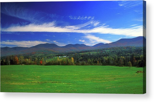 New Hampshire Acrylic Print featuring the photograph White Mountains From Route 2 by John Burk