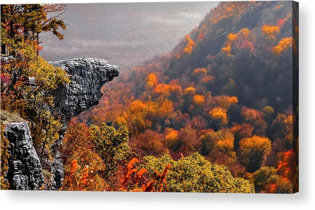Whitiker Point Acrylic Print featuring the photograph Whitiker Point by Garett Gabriel
