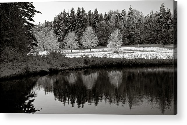 Winter Acrylic Print featuring the photograph Winter Scene 3 by Edward Myers