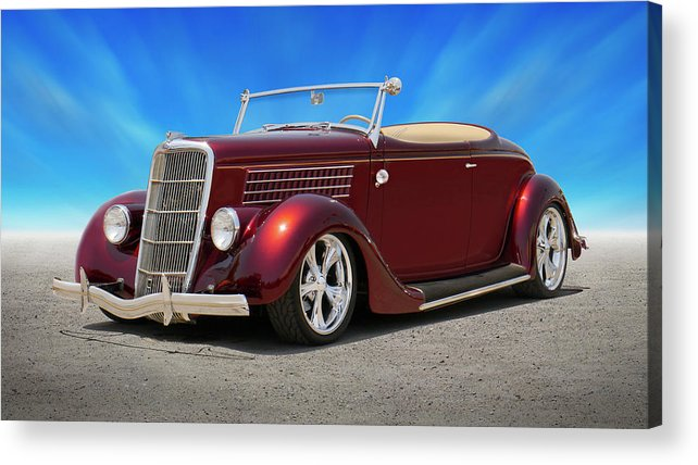 1935 Ford Acrylic Print featuring the photograph 1935 Ford Roadster by Mike McGlothlen