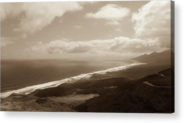 Landscape Acrylic Print featuring the photograph Cofete Beach by Eliza Spatar