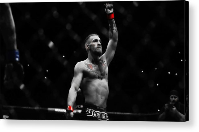 Conor Mcgregor Acrylic Print featuring the mixed media Conor Mcgregor The One And Only by Brian Reaves
