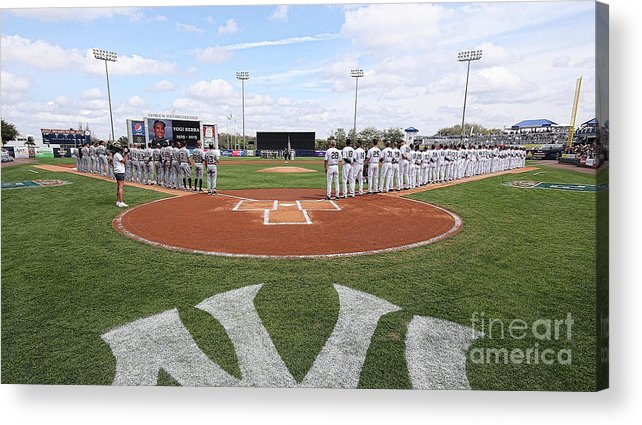 People Acrylic Print featuring the photograph Detroit Tigers V New York Yankees by Leon Halip