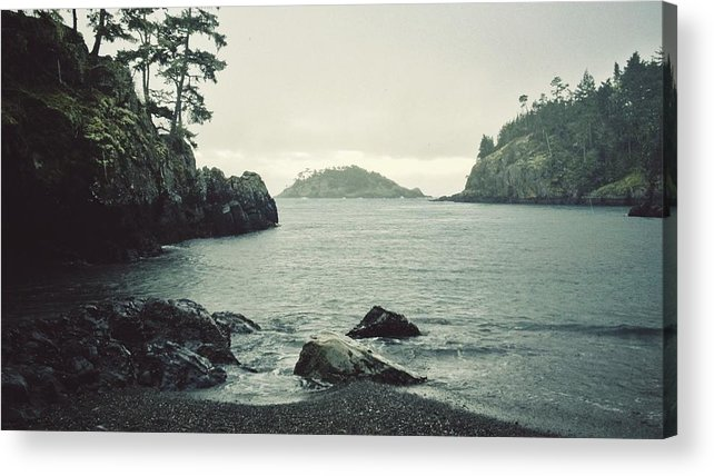Tranquility Acrylic Print featuring the photograph Rocky Bay On The Ocean by Tyler Forest-hauser