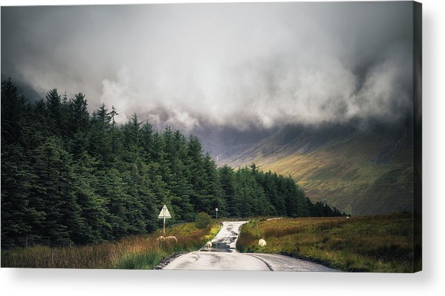 Chris Fletcher Acrylic Print featuring the photograph Towards The Fairy Pools by Chris Fletcher