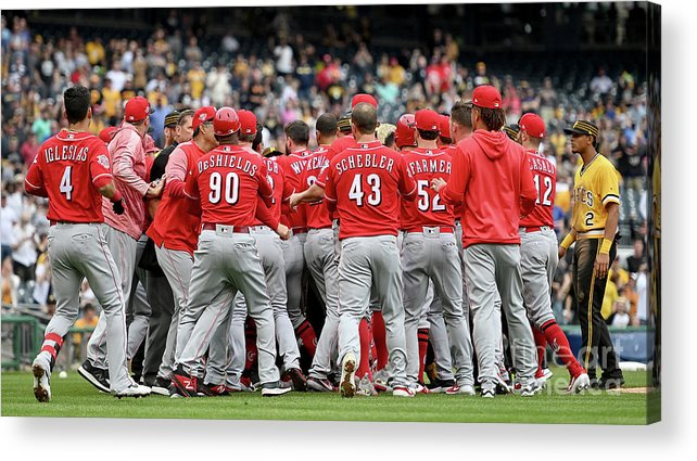 People Acrylic Print featuring the photograph Chris Archer And Derek Dietrich by Justin Berl