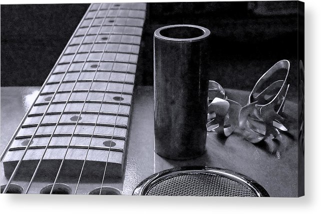 Slide Acrylic Print featuring the photograph Tools Of The Trade 2 by Everett Bowers