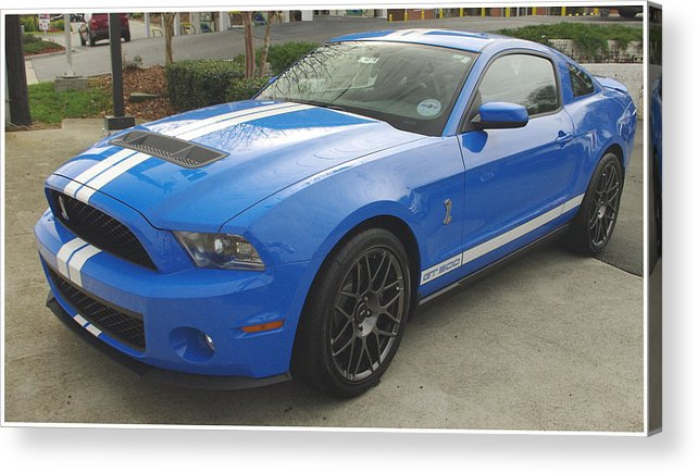 Mustang Acrylic Print featuring the photograph Shelby Cobra Gt 500 by James C Thomas