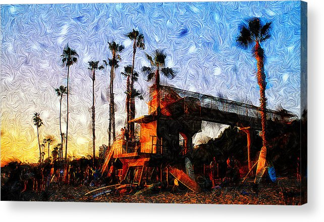 Surf Life Acrylic Print featuring the photograph Surf Life by Ron Regalado