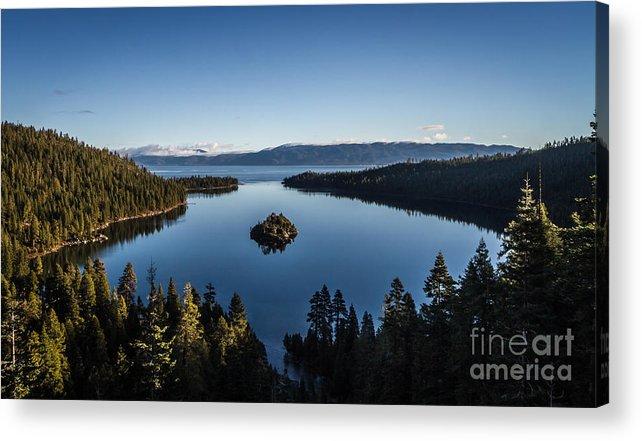 Generic Photo Of Emerald Bay Acrylic Print featuring the photograph A Generic Photo Of Emerald Bay by Mitch Shindelbower