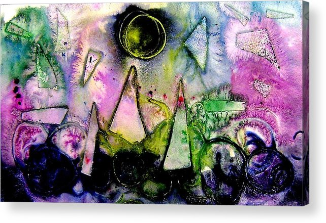 Abstract Landscape Acrylic Print featuring the mixed media Abstract Landscape I by John Nolan