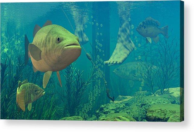 Underwater Acrylic Print featuring the digital art Alternate Perspective by Dieter Carlton